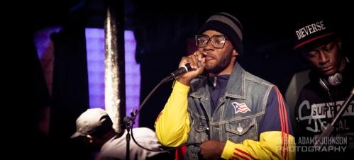 B Boy Abel Carrera,  free style MC at AS220 Providence, RI