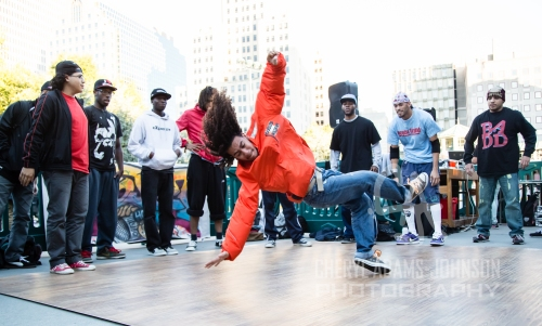 B Boy Sydsho (Oliver Arias) at the Avenue Sandwich, Downtown Providence
