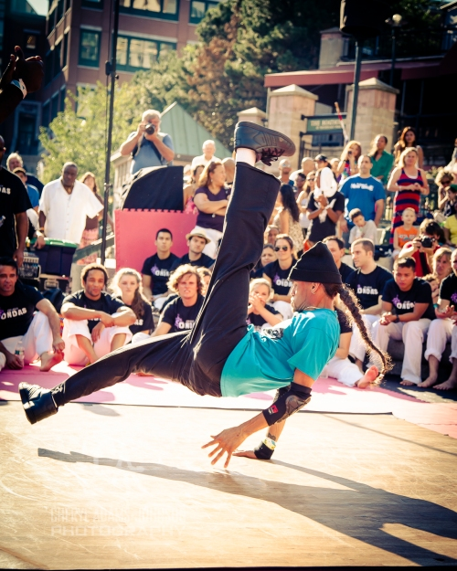 B Boy FaCce Maldonado, one of the founders of Project 401performing at Waterfire, Providence